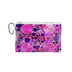 Pink Bling  Canvas Cosmetic Bag (Small)