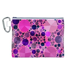 Pink Bling  Canvas Cosmetic Bag (Large)