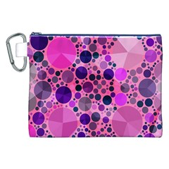 Pink Bling  Canvas Cosmetic Bag (XXL)
