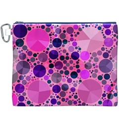 Pink Bling  Canvas Cosmetic Bag (XXXL)