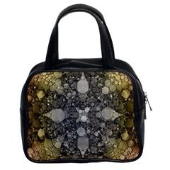 Abstract Earthtone  Classic Handbag (two Sides)