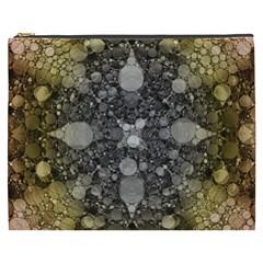 Abstract Earthtone  Cosmetic Bag (xxxl)