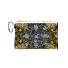 Abstract Earthtone  Canvas Cosmetic Bag (Small)
