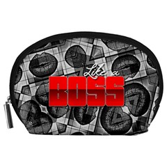 Like A Boss Sassy Lips  Accessory Pouch (Large)