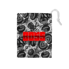 Like A Boss Sassy Lips  Drawstring Pouch (Medium)