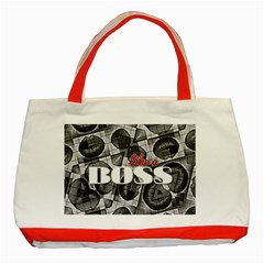 Like A Boss Blk&wht Classic Tote Bag (red)