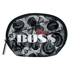 Like A Boss Blk&wht Accessory Pouch (Medium)