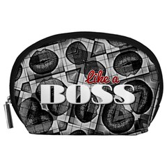 Like A Boss Blk&wht Accessory Pouch (large)