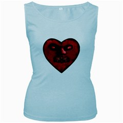 Evil Heart Shaped Dark Monster  Women s Tank Top (baby Blue)