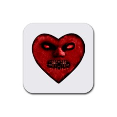Evil Heart Shaped Dark Monster  Drink Coaster (square)