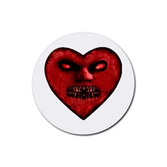 Evil Heart Shaped Dark Monster  Drink Coasters 4 Pack (round)