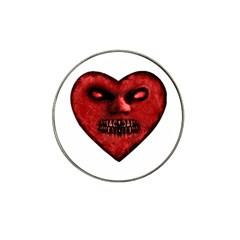 Evil Heart Shaped Dark Monster  Golf Ball Marker 10 Pack (for Hat Clip)