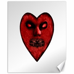 Evil Heart Shaped Dark Monster  Canvas 16  x 20  (Unframed)