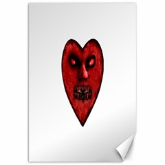Evil Heart Shaped Dark Monster  Canvas 20  x 30  (Unframed)