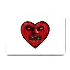 Evil Heart Shaped Dark Monster  Small Door Mat