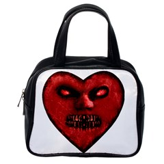 Evil Heart Shaped Dark Monster  Classic Handbag (one Side)