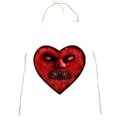 Evil Heart Shaped Dark Monster  Apron