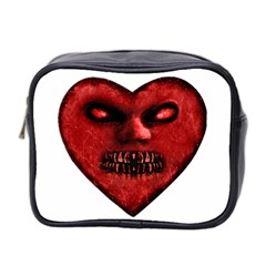 Evil Heart Shaped Dark Monster  Mini Travel Toiletry Bag (two Sides)