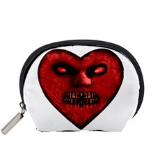 Evil Heart Shaped Dark Monster  Accessory Pouch (small)