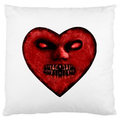 Evil Heart Shaped Dark Monster  Large Flano Cushion Case (one Side)