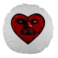 Evil Heart Shaped Dark Monster  Large Flano Round Cushion