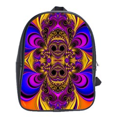 Crazy Abstract  School Bag (large)