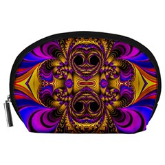 Crazy Abstract  Accessory Pouch (Large)