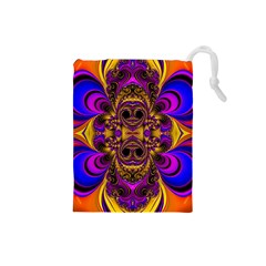 Crazy Abstract  Drawstring Pouch (small)