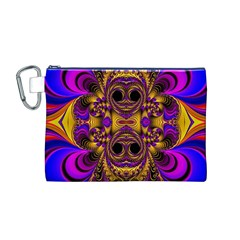 Crazy Abstract  Canvas Cosmetic Bag (Medium)