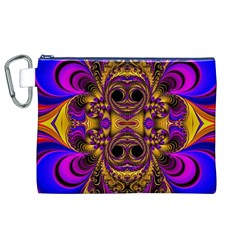 Crazy Abstract  Canvas Cosmetic Bag (xl)