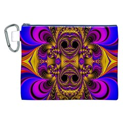 Crazy Abstract  Canvas Cosmetic Bag (xxl)