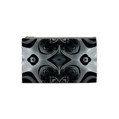 Crazy Black&white Fractal Cosmetic Bag (small)