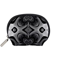 Crazy Black&white Fractal Accessory Pouch (Small)