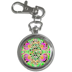 Florescent Abstract  Key Chain Watch