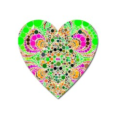 Florescent Abstract  Magnet (heart)