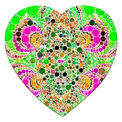 Florescent Abstract  Jigsaw Puzzle (heart)