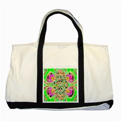 Florescent Abstract  Two Toned Tote Bag