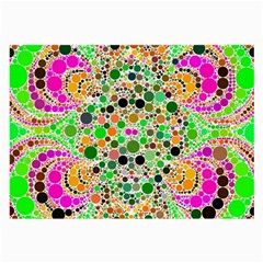 Florescent Abstract  Glasses Cloth (large, Two Sided)
