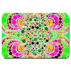 Florescent Abstract  Large Door Mat