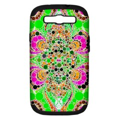 Florescent Abstract  Samsung Galaxy S Iii Hardshell Case (pc+silicone)