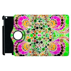 Florescent Abstract  Apple iPad 2 Flip 360 Case