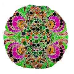 Florescent Abstract  18  Premium Round Cushion