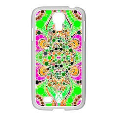 Florescent Abstract  Samsung GALAXY S4 I9500/ I9505 Case (White)