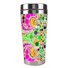 Florescent Abstract  Stainless Steel Travel Tumbler