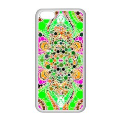 Florescent Abstract  Apple iPhone 5C Seamless Case (White)