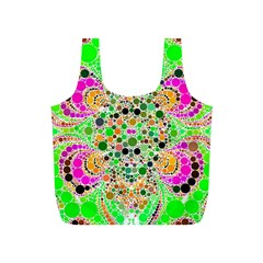 Florescent Abstract  Reusable Bag (S)