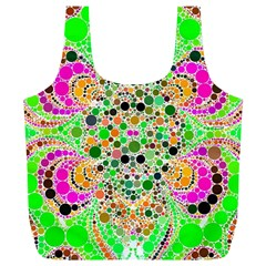 Florescent Abstract  Reusable Bag (XL)