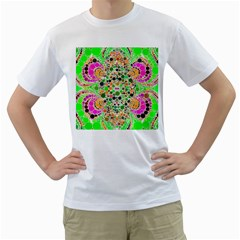 Florescent Abstract  Men s T-Shirt (White)