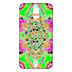 Florescent Abstract  Samsung Galaxy S5 Back Case (White)