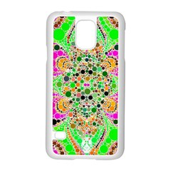 Florescent Abstract  Samsung Galaxy S5 Case (white)